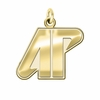Austin Peay Governors 14K Yellow Gold Natural Finish Cut Out Logo Charm