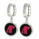 Austin Peay Governors CZ Hoop Earrings