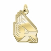 Ball State Cardinals 14K Yellow Gold Natural Finish Cut Out Logo Charm