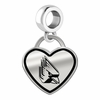 Ball State Cardinals Border Heart Dangle Charm