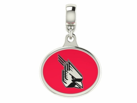 Ball State Cardinals Silver Enamel Drop