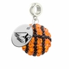 Ball State Crystal Drop Charm