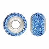 Blue Swarovski Elements Crystal Bead