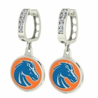 Boise State Broncos CZ Hoop Earrings
