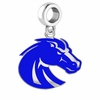 Boise State Broncos Silver Logo and School Color Drop Charm
