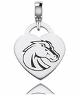 Boise State Engraved Heart Dangle Charm