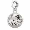 Boise State Round Dangle Charm