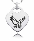 Boston College Eagles Heart Charm
