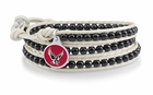 Boston Eagles Black and White Wrap Bracelet