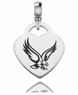 Boston Engraved Heart Dangle Charm