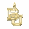 Boston Terriers 14K Yellow Gold Natural Finish Cut Out Logo Charm