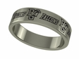 Bowling Green Falcons Wildcats Stainless Steel Ring