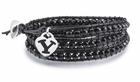 Brigham Young Black Leather Wrap