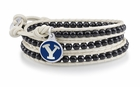 Bringham Young Black and White Wrap Bracelet
