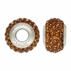 Brown Swarovski Elements Crystal Bead