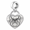 Butler Bulldogs Heart Dangle Charm