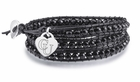 Campbell Black Leather Wrap