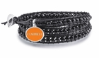 Campbell Black Wrap Bracelet