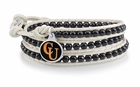 Campbell Fighting Camels Black and White Wrap Bracelet
