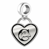 Campbell Fighting Camels Border Heart Dangle Charm