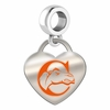 Campbell Fighting Camels Color Heart Dangle