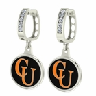 Campbell University CZ Hoop Earrings