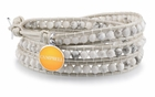 Campbell University White Wrap Bracelet