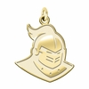 Central Florida Knights 14K Yellow Gold Natural Finish Cut Out Logo Charm