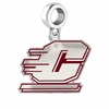 Central Michigan Chippeawas Silver Logo and School Color Drop Charm