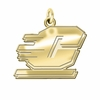 Central Michigan Chippewas 14K Yellow Gold Natural Finish Cut Out Logo Charm
