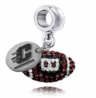 Central Michigan CMU Crystal Drop Charm