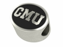 Central Michigan Chippewas Antiqued Bead