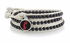 Cincinnati Bearcats Black and White Wrap Bracelet