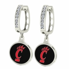 Cincinnati Bearcats CZ Hoop Earrings