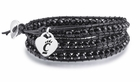 Cincinnati Black Leather Wrap