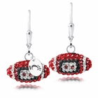 Cincinnati Crystal Football Earrings