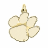 Clemson Tigers 14K Yellow Gold Natural Finish Cut Out Logo Charm