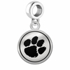 Clemson Tigers Border Round Dangle Charm