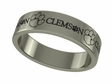 Clemson Tigers Stainless Steel Ring