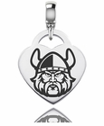 Cleveland State Engraved Heart Dangle Charm