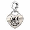 Cleveland State Vikings Heart Dangle Charm