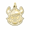 Cleveland State Vikings 14K Yellow Gold Natural Finish Cut Out Logo Charm