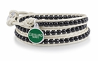 Cleveland State Vikings Black and White Wrap Bracelet