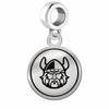Cleveland State Vikings Border Round Dangle Charm