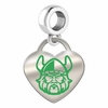 Cleveland State Vikings Color Heart Dangle