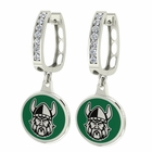 Cleveland State Vikings CZ Hoop Earrings