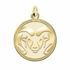 Colorado State Rams 14K Yellow Gold Natural Finish Cut Out Logo Charm