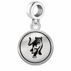 Columbus State Cougars Border Round Dangle Charm