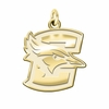Creighton Bluejays 14K Yellow Gold Natural Finish Cut Out Logo Charm