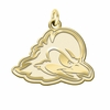 Delaware Blue Hens 14K Yellow Gold Natural Finish Cut Out Logo Charm